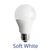 "A standards light bulb labeled ""Soft White"""