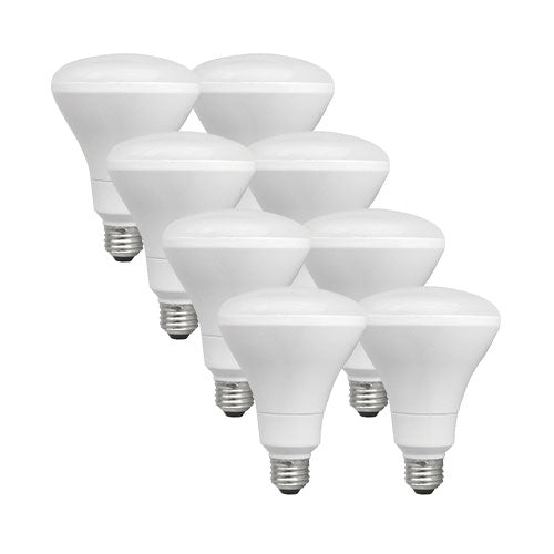 Eight TCP BR30 light bulbs