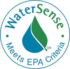 "WaterSense logo reading ""Meets EPA Criteria"""