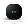 "ecobee3 lite thermostat with text reading ""click on 'check your system compatibility' before you purchase."""