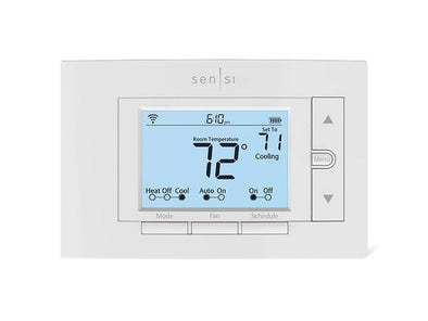 White Emerson Sensi thermostat