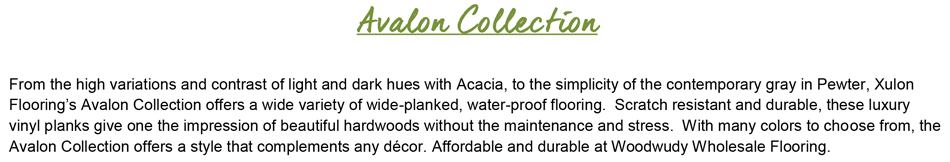 "Avalon-Acacia 6.3"" Wide-10mil-Glue Down Luxury Vinyl Plank"