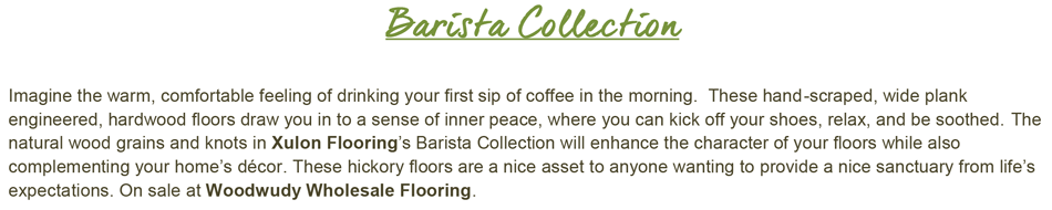 "Barista-Cappuccino-Hickory-6.5"" Wide-1/2"" Thick-Engineered Hardwood"