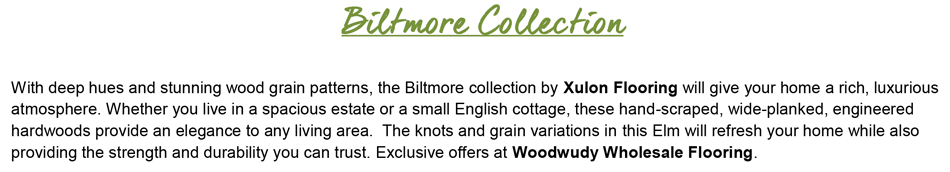 "Biltmore-Elm 3/8"" Thick-5"" Wide Engineered Hardwood"