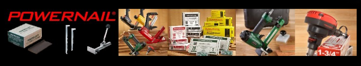 Powernail hardwood flooring tools and fasteners