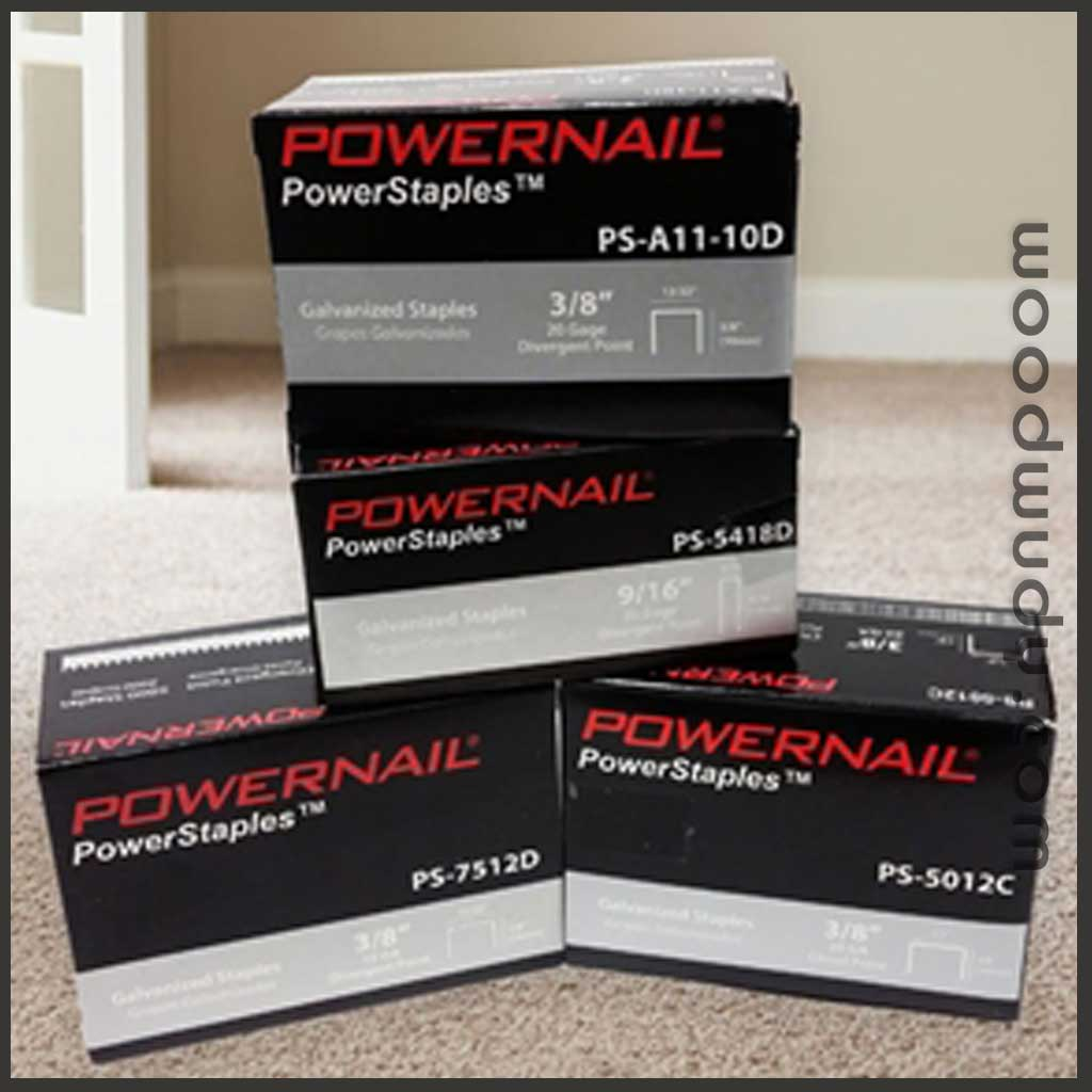 Powernail Fasteners Carpet Staples