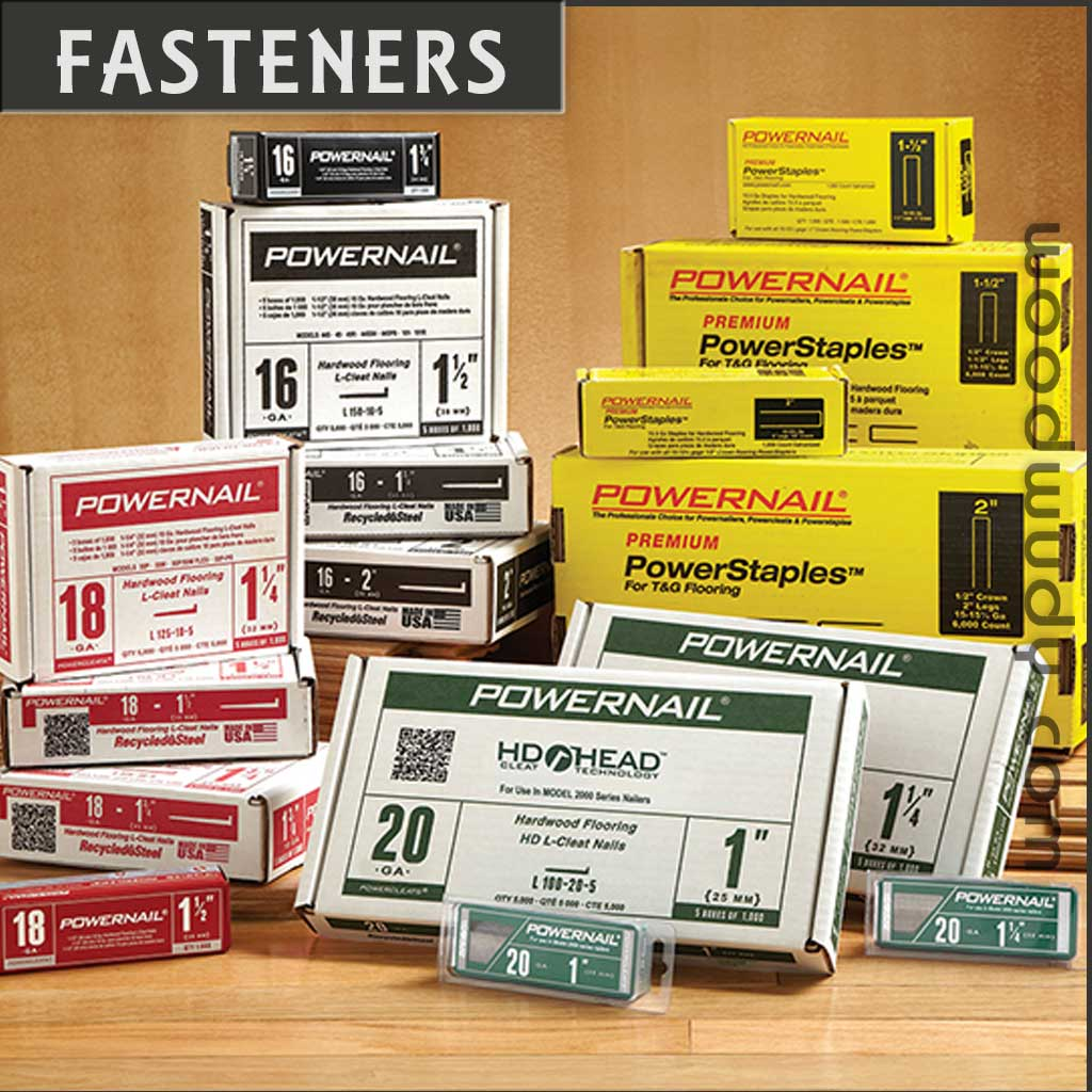 Powernail Fasteners-PowerCleats, PowerStaples, Brad Nails, Finish Nails