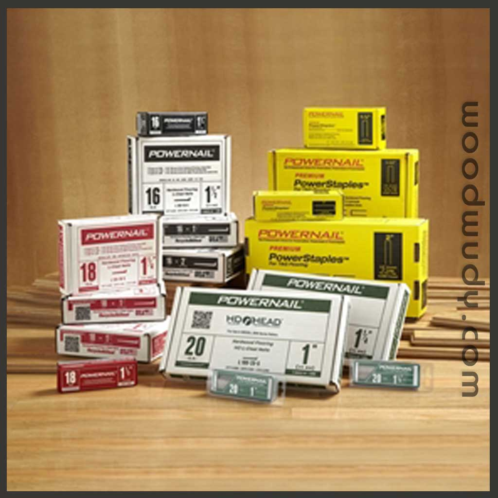 Powernail Fasteners for Hardwood Flooring Cleats and Staples