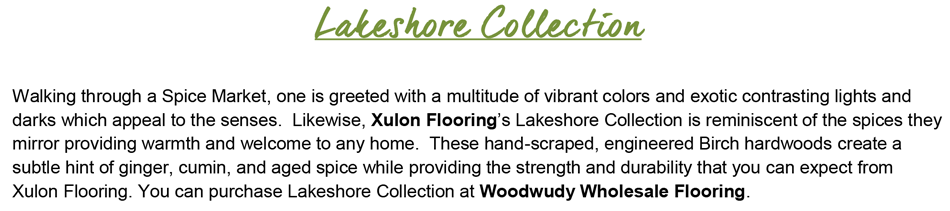 "Lakeshore-Birch 3/8"" Thick - 6.5"" Wide Handscraped Engineered Hardwood"
