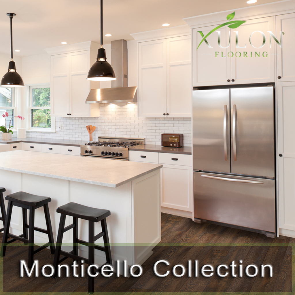 "Xulon Flooring-Monticello-7"" wide 12 mil Rigid Waterproof Flooring"