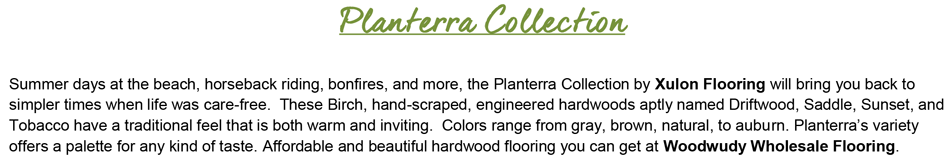"Planterra-Birch-5"" Wide-3/8"" Thick-Handscraped Engineered Hardwood"