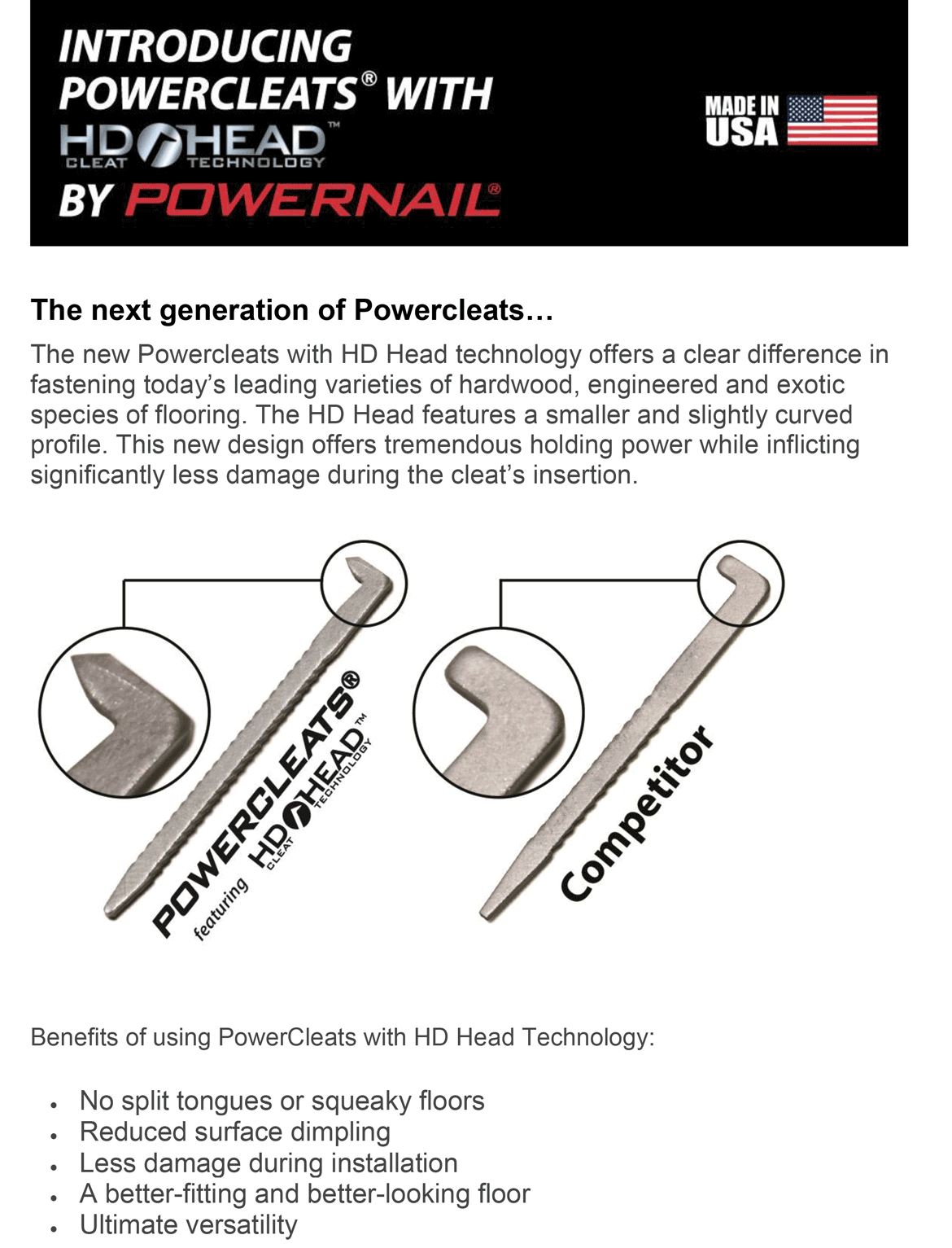 Powernail Technology-Flooring Tools amd Fasteners-Staplers and Cleats