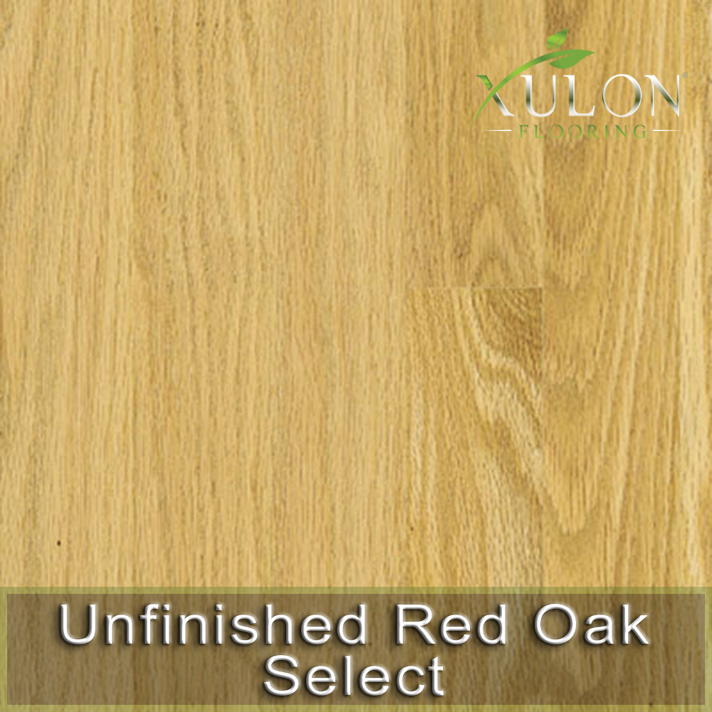 Xulon Flooring-Unfinished Red Oak Select-Solid Hardwood