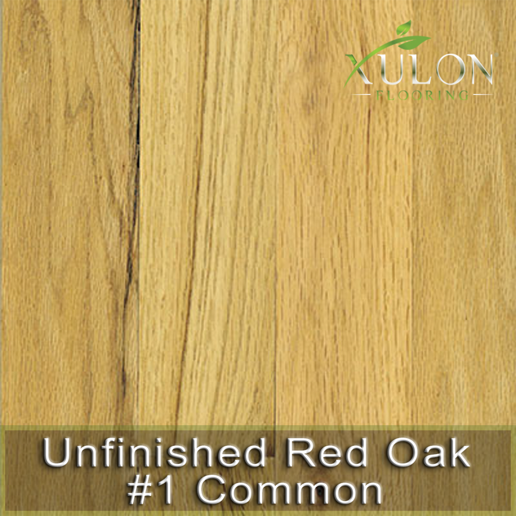 Xulon Flooring-Unfinished Red Oak #1 Common-Solid Hardwood