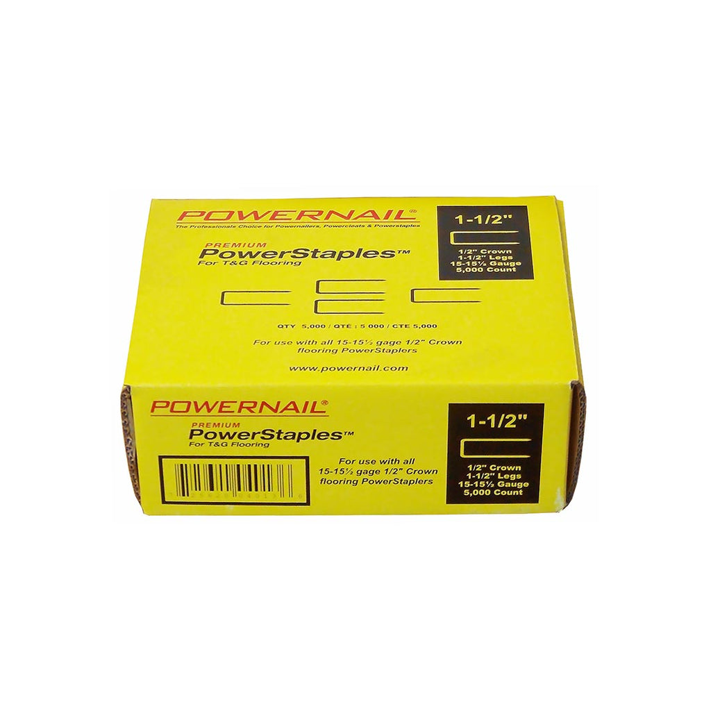 Powernail 15.5 GA PowerStaples 1 1.2'' 5M (5000ct) Item No: PS1505