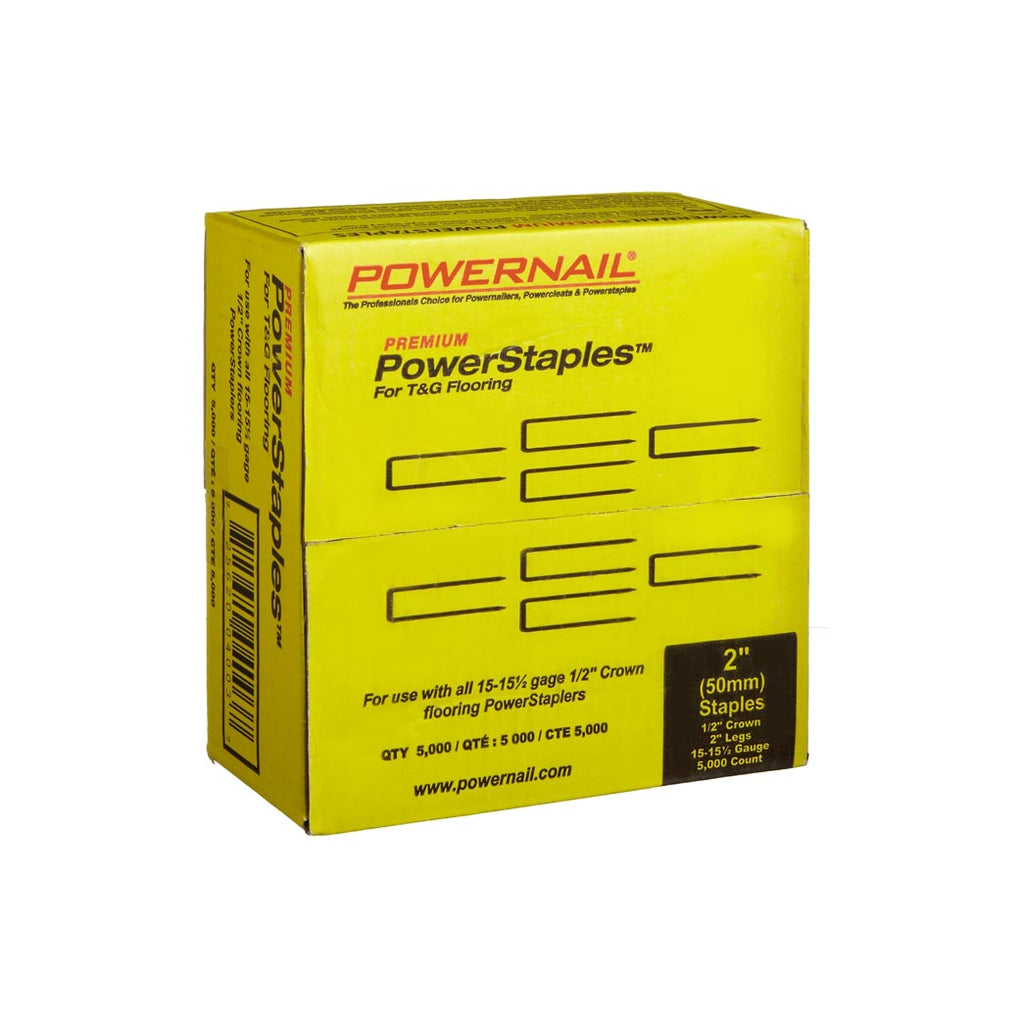 Powernail 15.5 GA PowerStaples 2'' (5000ct) Item No: PS2005
