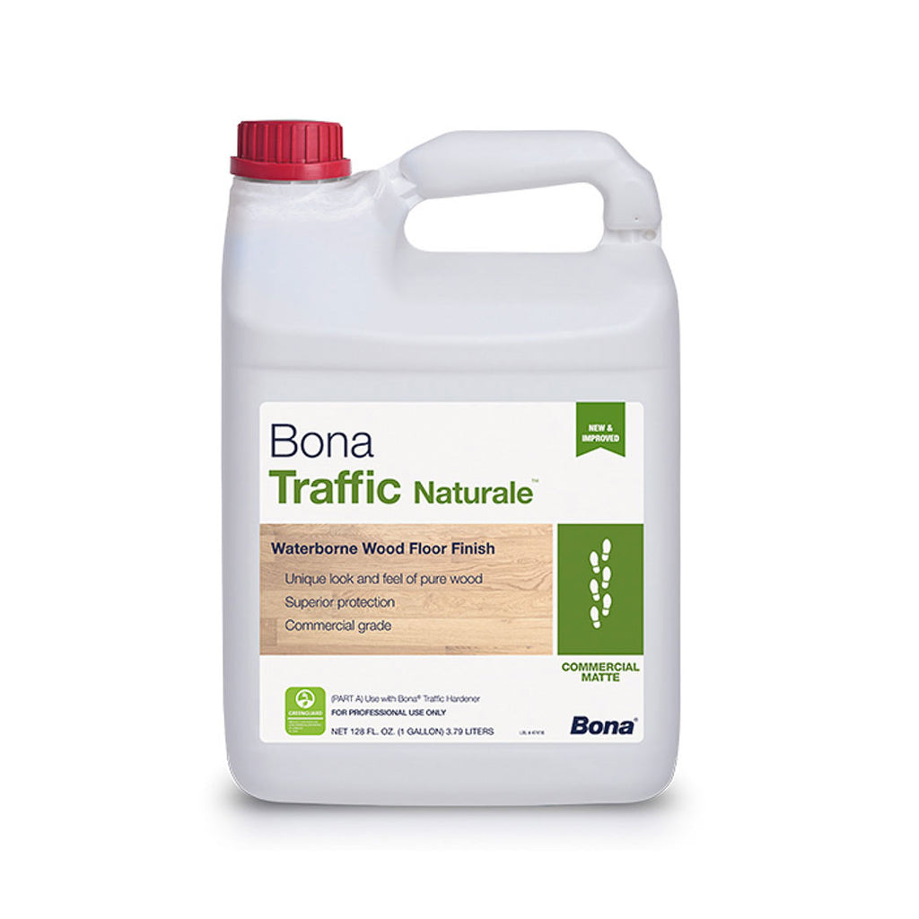 Bona Traffic Naturale Commercial Matte Water-Based Wood Floor Finish 1 Gallon WT191818001