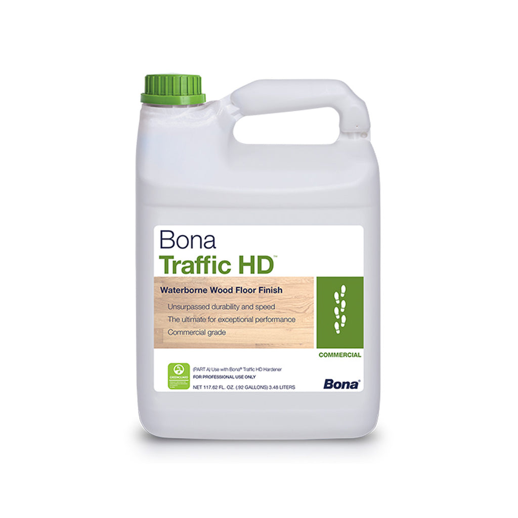Bona Traffic HD Matte Water Based Wood Floor Commercial Finish - 1 Gallon Satin Semi Gloss Extra Matte