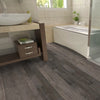 "Braelinn Riverstone Hickory 3"", 5"" & 7"" Random Width 3/8"" Thick Engineered Hardwood Xulon Flooring Room Scene"