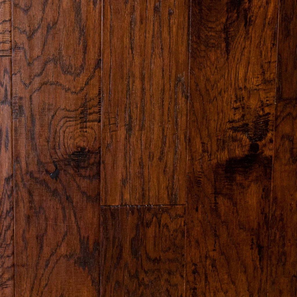 "Xulon Pemberley Collection Autumn Hickory 5"" Wide 3/8"" Thick Handscraped Engineered Hardwood Flooring"