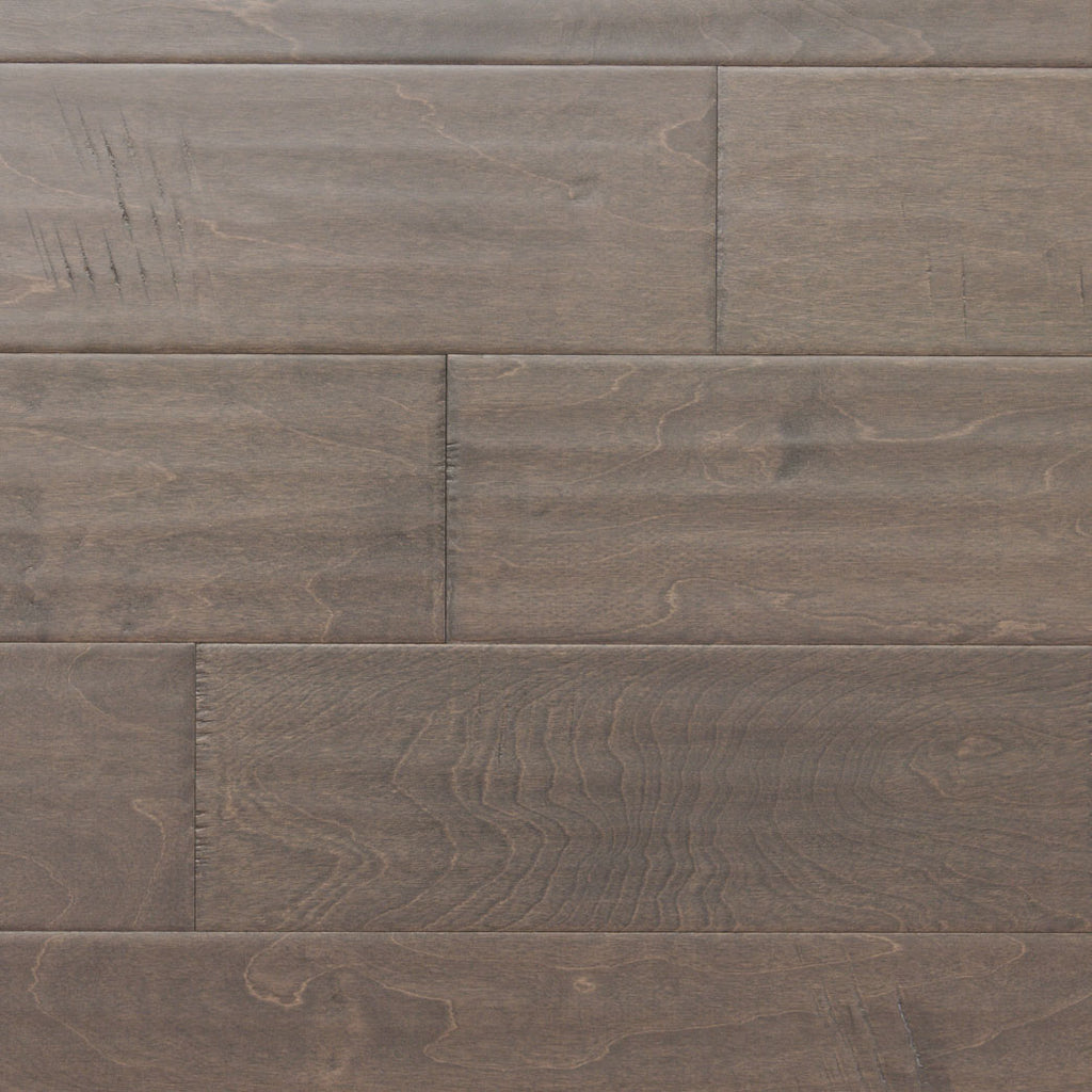 "Xulon Planterra Collection Driftwood Birch 5"" Wide 3/8"" Thick Handscraped Engineered Hardwood Flooring"