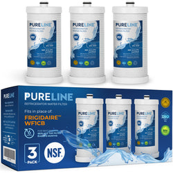 Frigidaire Water Filter for WF1CB, WFCB, NGRG 2000, Puresource RG-100,NGRG 2000. Also compatible with Kenmore 46-9910, 46 9906. Designed to Exact Fit as Original Frigidaire Filter. - Pure Line Filters