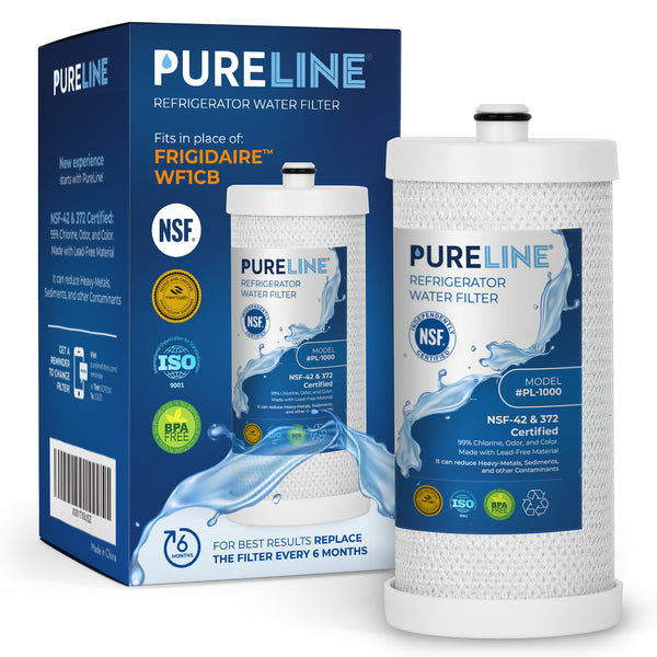 Frigidaire Water Filter for WF1CB, WFCB, NGRG 2000, Puresource RG-100,NGRG 2000. Also compatible with Kenmore 46-9910, 46 9906. Designed to Exact Fit as Original Frigidaire Filter - PURELINE - Pure Line Filters