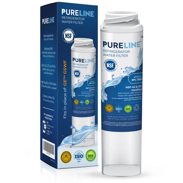 Pureline GSWF Water Filter Replacement. Compatible with GE GSWF, 238C2334P001, Kenmore 46-9914, 469914, 9914
