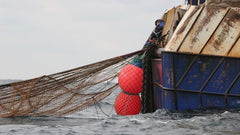 plastic from commercial fishing