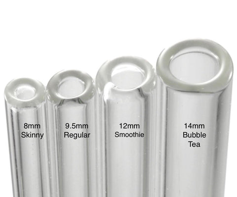 glass straw sizes