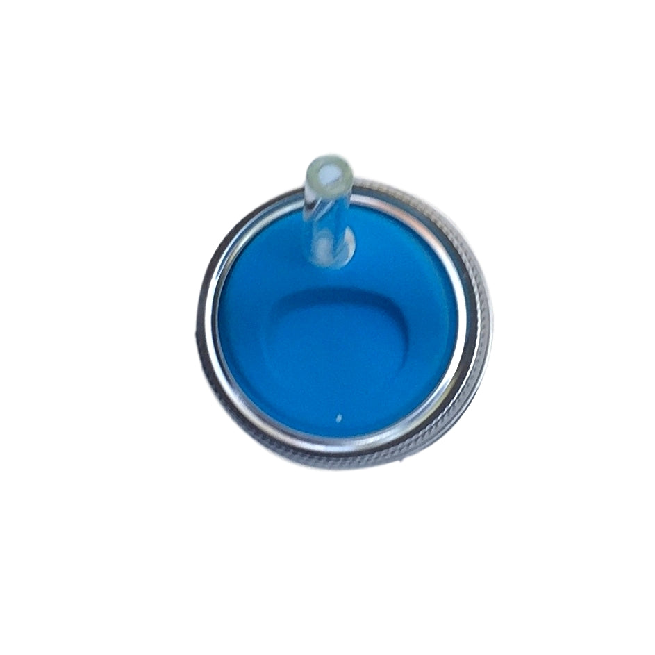 Blue Food-Grade Silicone Mason Jar Lids - Glass Sipper