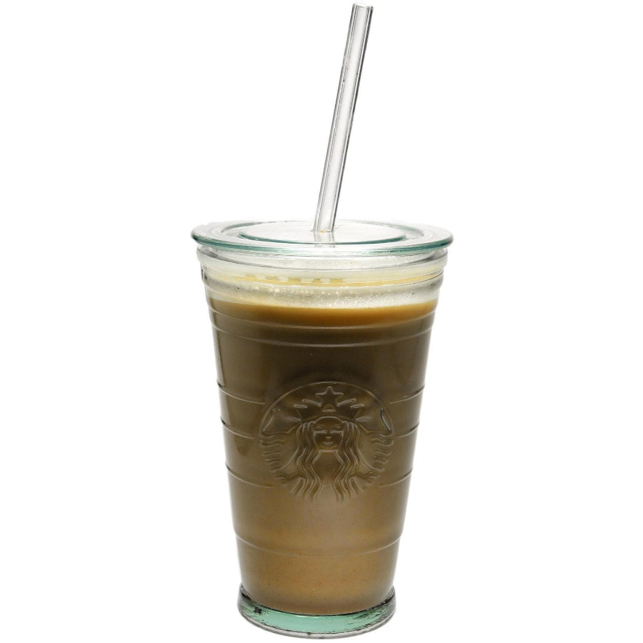 Skinny 8mm Glass Straws for Venti Starbucks - Glass Sipper