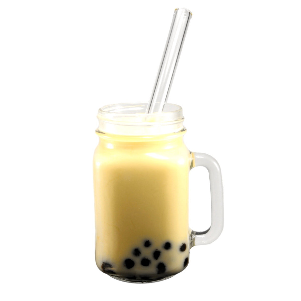 boba/bubble tea reusable glass straw