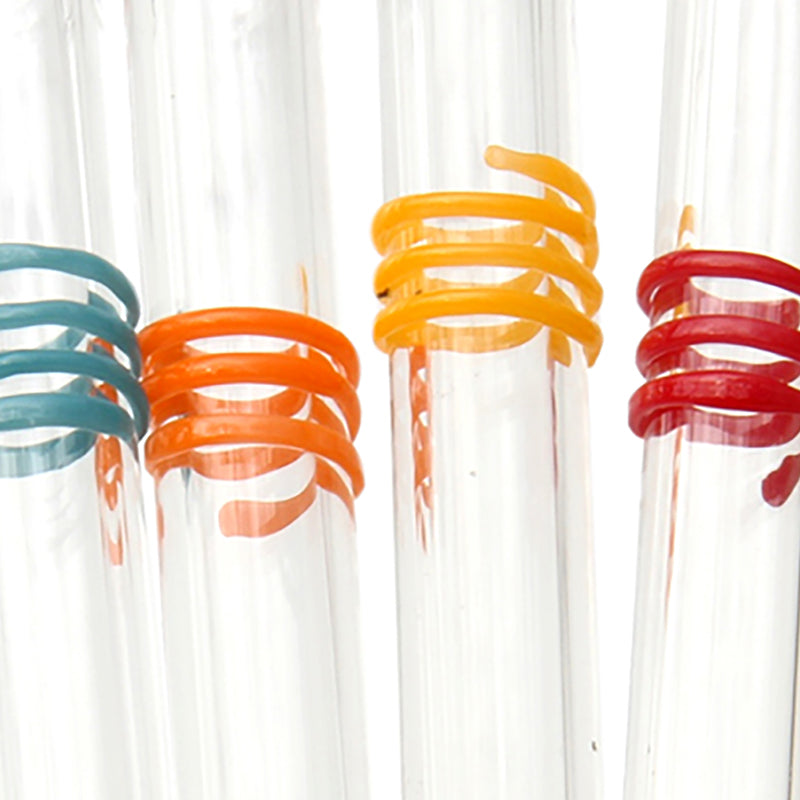 Fiesta Swirl GlassStraws - Glass Sipper