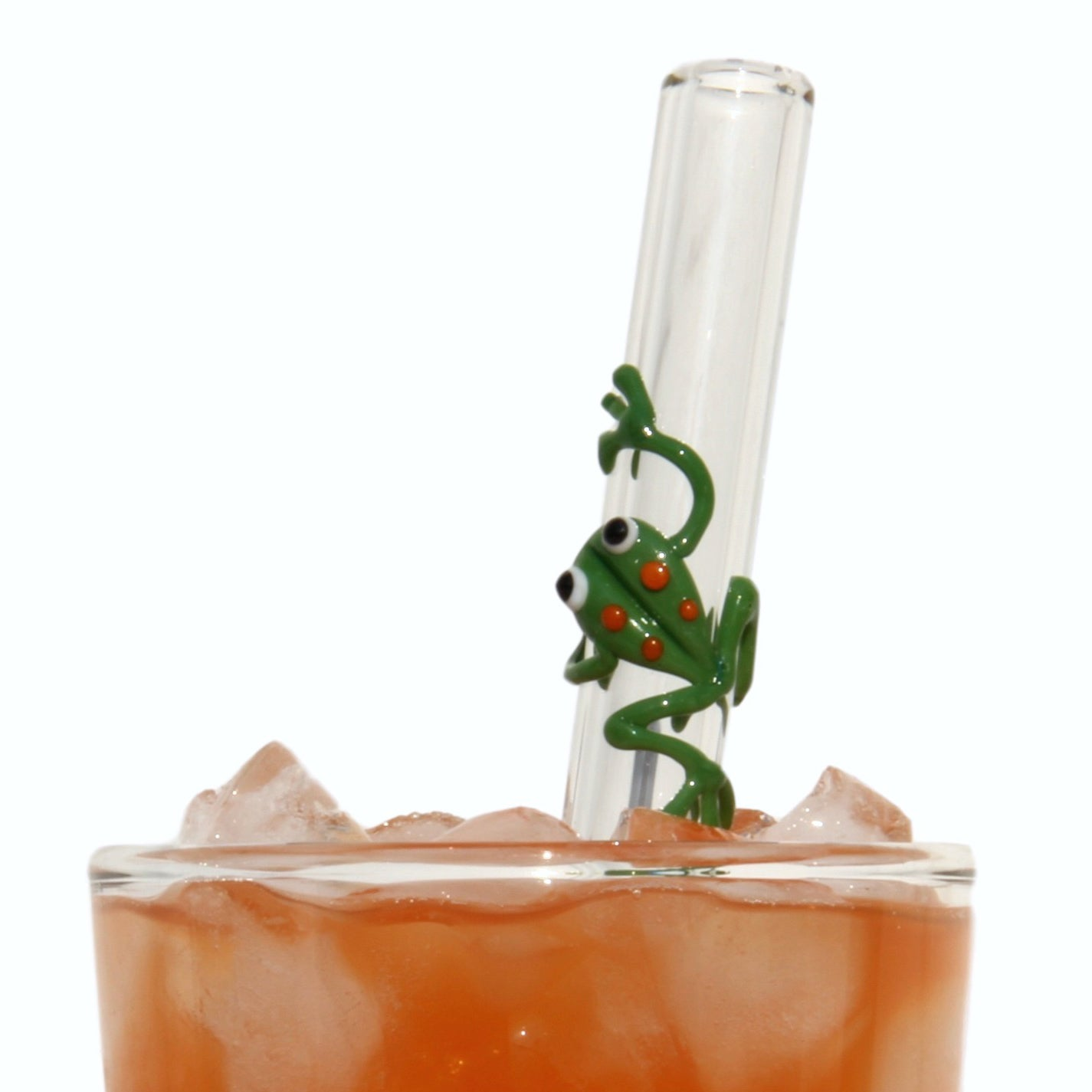Glass Straws Frog Reusable Glass Drinking Straws - GlassSipper