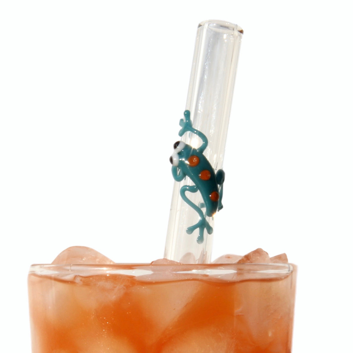 Gecko GlassStraws - Glass Sipper