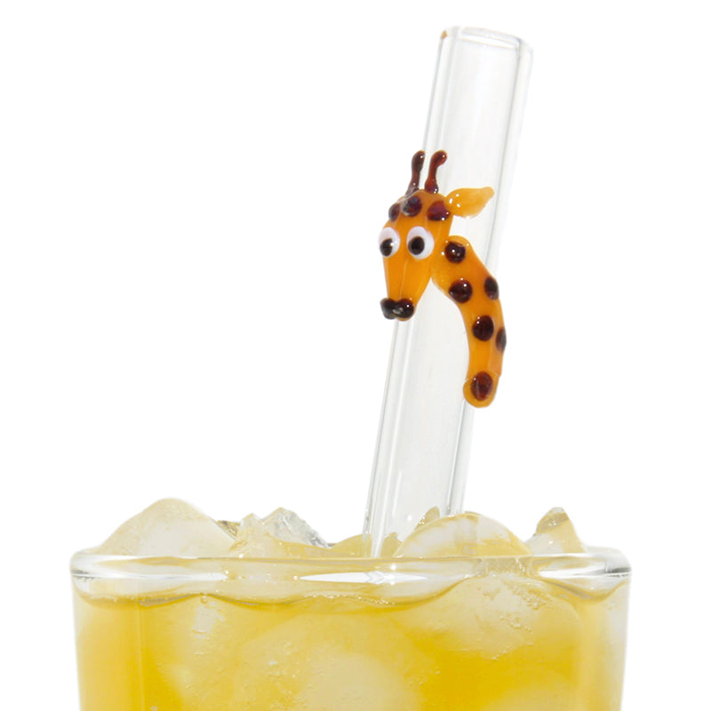 Glass Straws Giraffe Reusable Glass Drinking Straws - GlassSipper