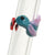 close up of hummingbird reusable glass straw Glass-Sipper