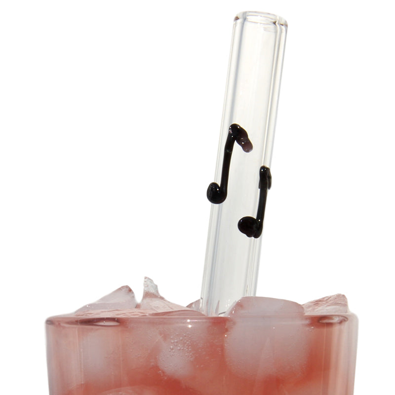 Musical Note Glass Straws - Glass Sipper