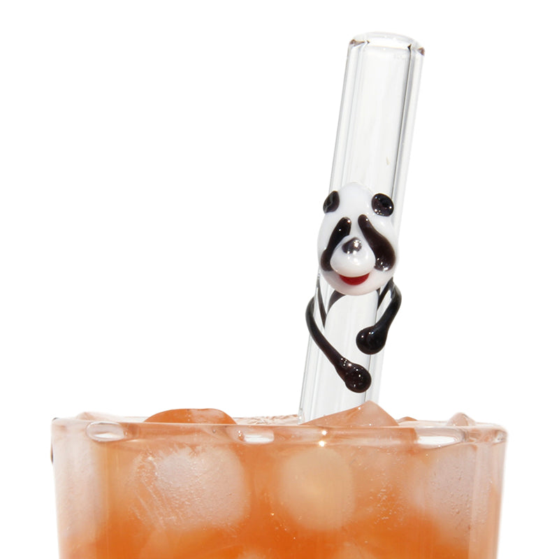 Panda Glass Straws - Glass Sipper