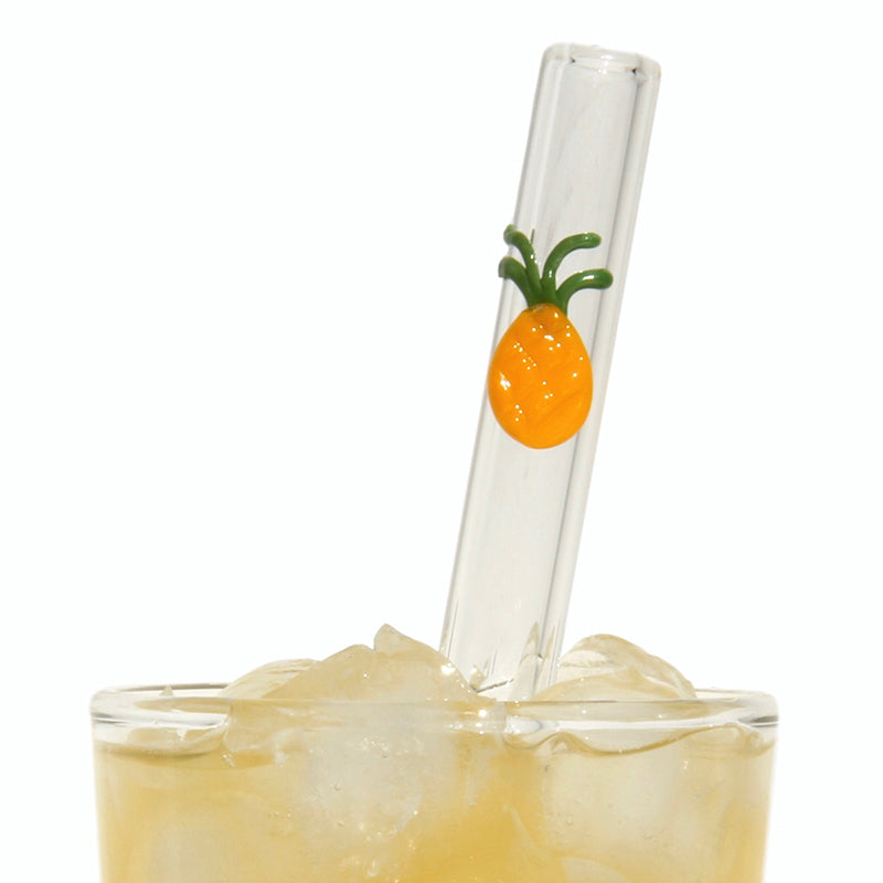 Pineapple Glass Straws - Glass Sipper