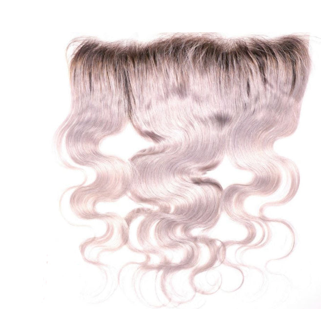 Gray Body Wave Dark Root Frontal