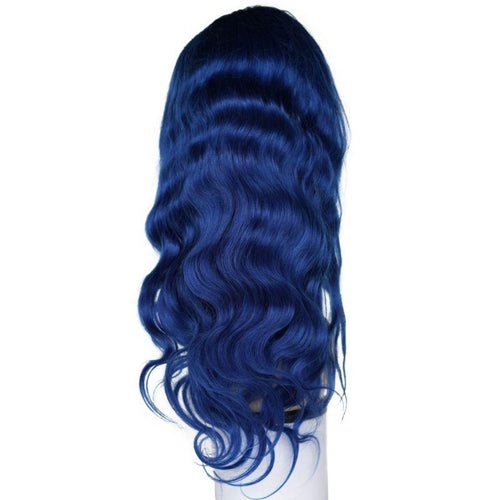 Royalty Blue Body Wave Lace Front Wig (180% Density)