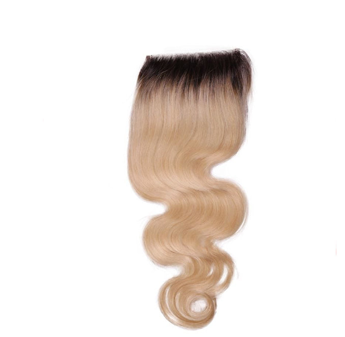 Russian Blonde Ombré Body Wave Closure