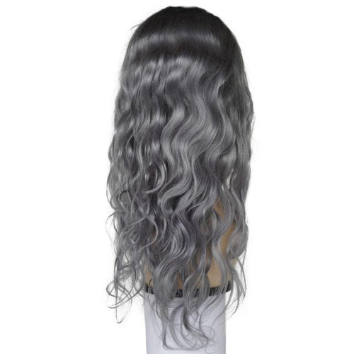 Not Your Grandma's Gray Body Wave  Lace Front Wig (180% Density)