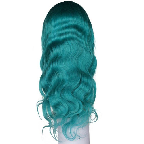 Teal Seas Body Wave Lace Front Wig (180% Density)