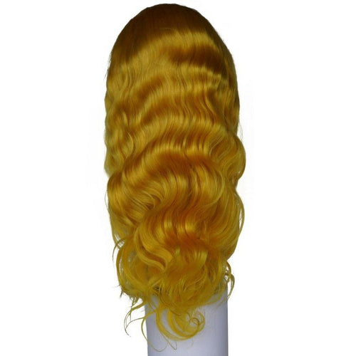 Yellow Sunshine Body Wave Lace Front  Wig (180% Density)