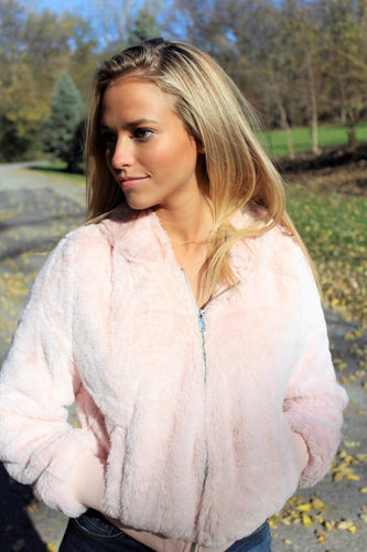 Furry Pink Jacket