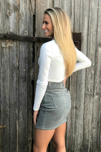 Lilly Corduroy Mini Skirt
