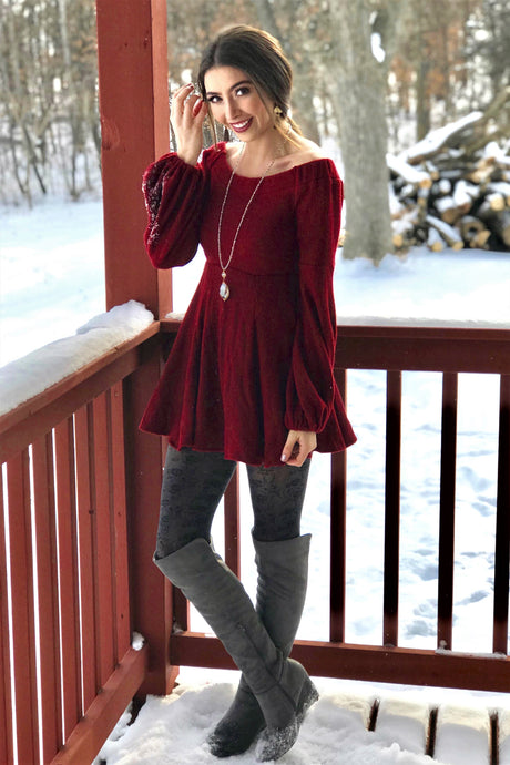 Baby Doll Sweater Dress